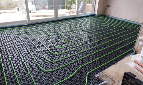 Underfloor heating pipework